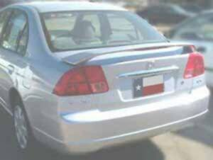 Un painted Primer Finish For Honda Civic 4dr 2001 2005 Spoiler Wing W led Light