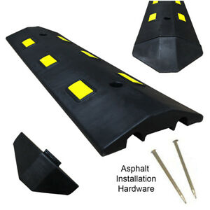 3ft Asphalt Light Weight Speed Bump Traffic Road Safety Control Black
