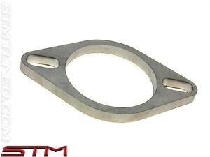 Stm Stainless Steel Exhaust Flange 3 Elongated 2 Bolt Free Shipping