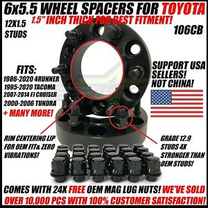 6x5 5 Hub Centric 1 5 Inch Wheel Spacers For Toyota 4runner Tacoma 38mm 6x139 7