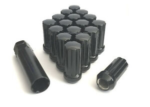 32 Pc Chevy Gmc 8 Lug 2500 3500 Duramax Diesel 14x1 5 Black Spline Lug Nuts New