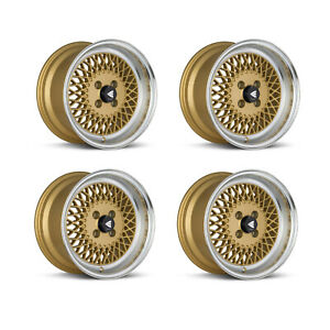 Enkei 465 570 4938gg Set Of 4 Gold Enkei92 15x7 Wheels 4x100mm Bolt Pattern