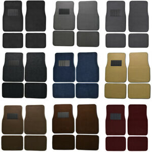 Car Floor Mats For Sedan Suv 4 Piece Carpet Liner Vinyl Heel Pad Carpet Mat