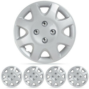 Wheel Covers Fit 95 01 Honda Civic Hubcaps 4pc Silver 14 Abs Oem Replica