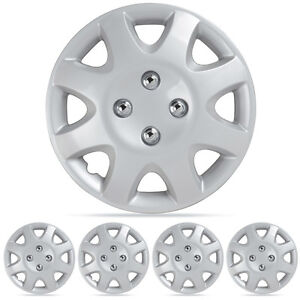 Wheel Covers Set 14 Silver Hubcaps Wheel Cover Oem Replacement Hub Caps