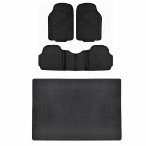 Hd All Weather Car Floor Mats Liner Set Durable Rubber Black Motortrend