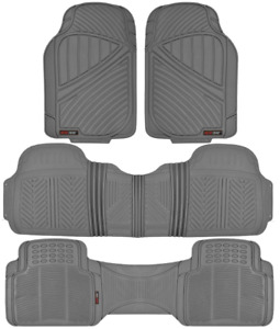 Motor Trend Max Duty Van Truck Floor Mats Gray Odorless All Weather Full Set