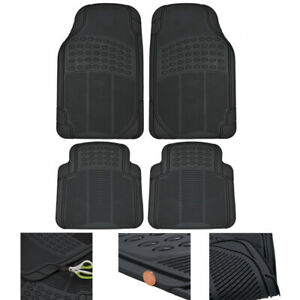 Motortrend Car Floor Mats 100 Odorless Rubber All Weather Protection Black
