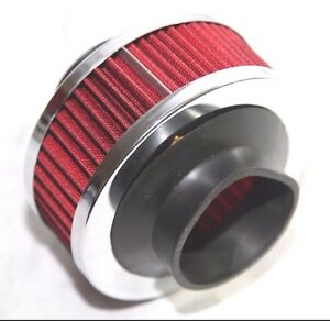 Red 2 5 Mesh Bypass Valve Pipe Turbo Cold Cool Air Intake Filter
