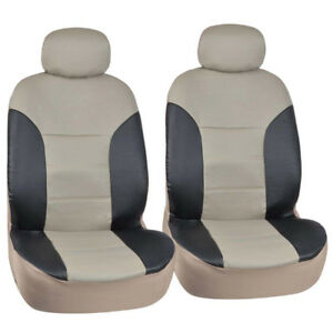 Honda Accord Sedan Coupe Fitted Seat Covers Beige Black 2 Tone Pu Leather