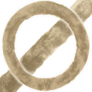 Faux Fur Steering Wheel Cover Fits From 14 5 To 15 5 Inches Beige