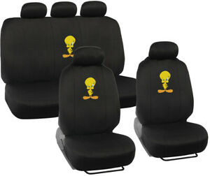 Looney Tunes Tweety Bird Seat Covers For Car Suv Full Set Auto Accessories