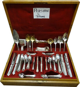 Persian By Tiffany Co Sterling Silver Flatware Service Set Dinner 213 Pieces