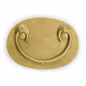 Cbh Oval Chinese Brass Hardware Handle Drawer Pulls 4 Set Of 2