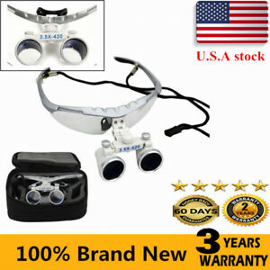 3 5x420mm Dental Binocular Loupes Magnifier Lens Glasses Surgical With Case