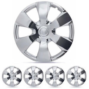 16 Set Of 4 Hub Cap Chrome Oem Replica Front Rear Total Set For Toyota Camry