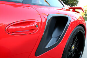 Porsche 997 Turbo Gt2rs Carbon Fiber Side Air Intake Scoops Matte Or Gloss