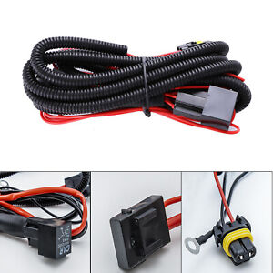 9005 9006 Relay Wiring Harness For Connector Cord Cable Add On Led Fog Light Drl