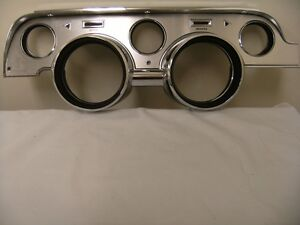 1967 67 Ford Mustang Instrument Bezel Deluxe Brushed Aluminum Finish Fast Ship