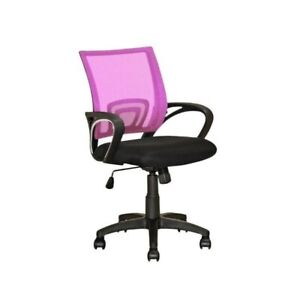 Corliving Workspace Mesh Back Swivel Office Chair In Pink