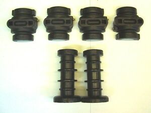 Disc Harrow Axle Kit 2 Ribbed Spools 4 Bearing Halves 7 1 2 Long 1 Square