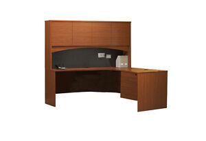 Mayline Bt15lcr Cherry Executive Desk With Hutch