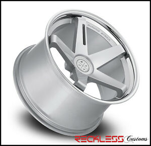 20 Blaque Diamond Bd21 Silver Staggered Wheels Rims Fits Lexus Ls430 Ls460