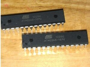 50pcs Ic Atmega8 16pu Dip 28 New Ca