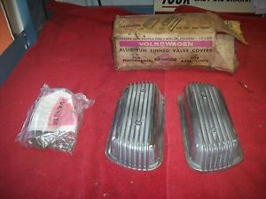 Vintage Nos Cal Custom Volkswagen Vw Bug Bolt On Aluminum Finned Valve Covers