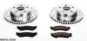 Power Stop K5144 Rear Z23 Evolution 1 click Brake Kit For 04 06 Ram 1500 Srt 10