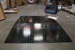5x5 Floor Pallet Scale 5 000 Lb With 60 X 48 Ramp For Pallet Jack