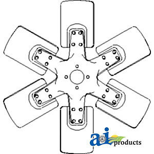 A 530177m1 Massey Ferguson Parts Fan 6 Blade 1085 285