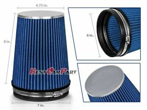 Blue 6 152mm Inlet Truck Air Intake Cone Replacement Quality Dry Air Filter