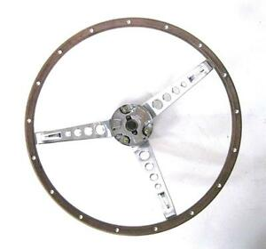 1967 Ford Mustang Steering Wheel Assembly Wood Grain 67