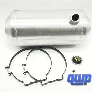 New 7 Gallon 10 X 22 1 2 Aluminum Round Silver Fuel Gas Tank Can Reservoir