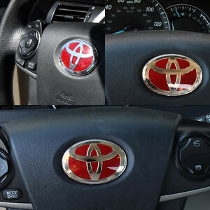 Toyota Red Steering Wheel Emblem Badge For Camry Corolla Rav4 Sienna 4runner