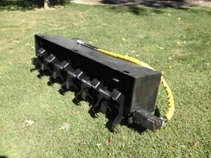 New 72 Inch Skidsteer Tiller On Sale Now Bobcat Takeuchi Cat New Holland Deere