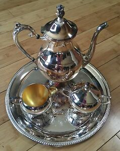 F B Rogers Co 1883 Silver Plated Coffee Tea Service Set