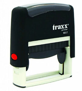 Cheque Stamp Self Inking Rubber Stamp Traxx 9017 50 X 10mm