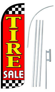 Tire Sale Flutter Feather Flag Sign Blade Banner 30 Wider Super Swooper