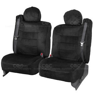 Truck Seat Covers Front Pair Black Scottsdale Built In Seat Belt For Chevy Tahoe