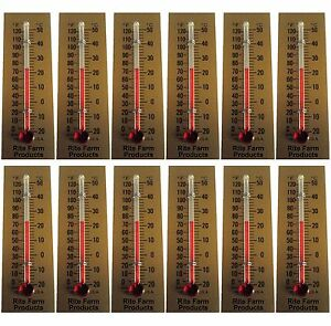 12 Pack Rite Farm Products Glass Temperature Thermometer Egg Incubators Chickens