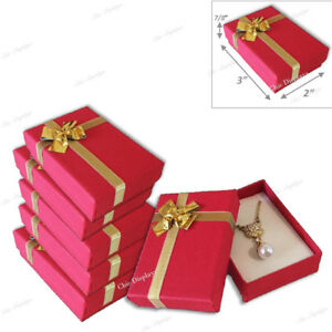 Jewelry Gift Boxes For Necklace And Earrings Jewelry Boxes Red Gift Boxes 20 pc