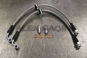 Stainless Steel Ss Front Brake Line Replacement Kit For 99 00 Honda Civic Si Em1