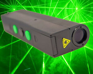 Dual Heads 532nm 2 100mw Green Laser Sword laserman Show bright Thick Green Beam