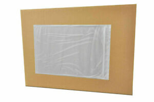 5 5 X 10 Clear Packing List Slip Holders Envelopes Plain Face 8000 Pouches