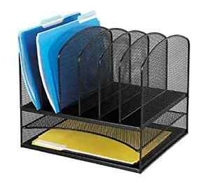 New Mesh Desk Organizer Office Storage File Folders Binders Papers Notepads 2