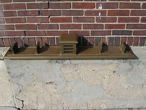 Antique Art Deco Brass Glass Desk Divider Mini Tower Doors Interior Decorate
