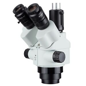 Amscope Sm745ntp 7x 45x Simul focal Trinocular Zoom Stereo Microscope Head