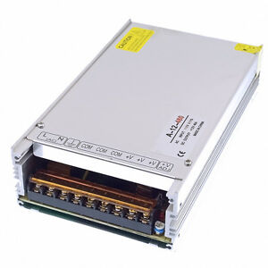 12v Dc 480w Regulated Universal Driver Switch Power Supply Transformer 2 Fans